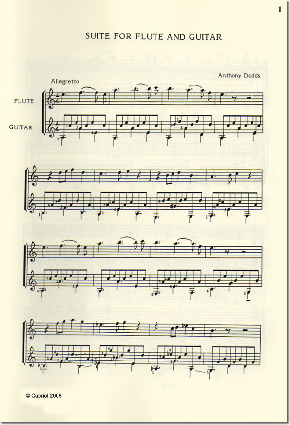 Suite for Flute and Guitar
